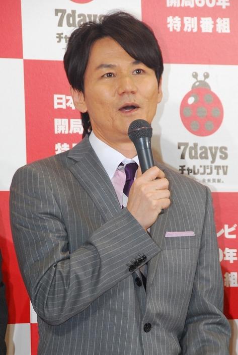 南原清隆/Kiyotaka Nanbara(Uchhan-nanchan), May 23, 2013 : 日本テレビの大型特番「7daysチャレンジTV ~一緒に、未来貢献。~」の会見=2013年5月23日撮影 ともに総合司会を務める南原清隆さん