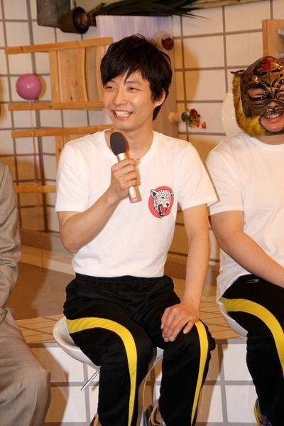 星野源/Gen Hoshino, Feb 25, 2014 : 「LIFE!~人生に捧げるコント~」の会見に番組のコントキャラクターで登場し星野源さん=2014年2月25日撮影