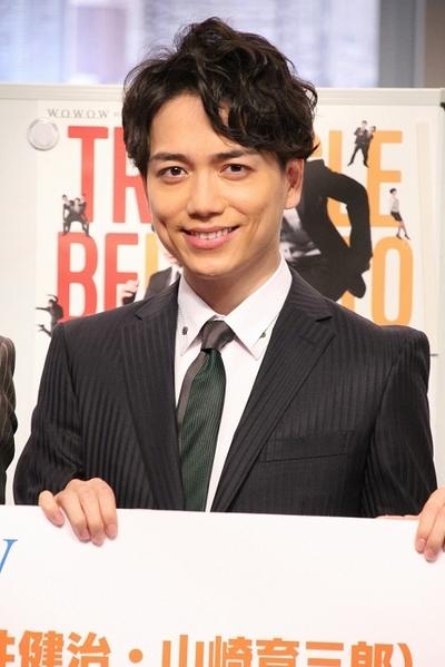 山崎育三郎/Ikusaburo Yamazaki, Mar 08, 2016 : 東京都内で行われたWOWOWのミュージカルコメディー番組「トライベッカ」の制作会見