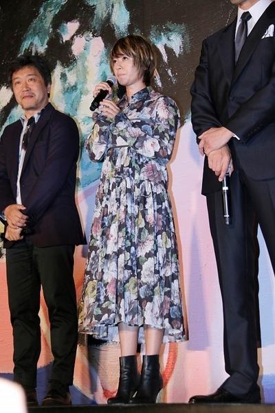 真木よう子/Yoko Maki, Apr 24, 2016 : 東京都内で行われた映画「海よりもまだ深く」の完成披露試写会