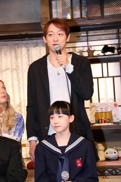 山本耕史/Koji Yamamoto, 芦田愛菜/Mana Ashida, Apr 10, 2016 : 東京都内で行われた17日スタートのフジテレビ系の連続ドラマ「OUR HOUSE」の制作発表