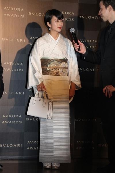 柴咲コウ, Nov 29, 2016 : 東京都内で行われた「ブルガリ アウローラ アワード」の授賞式
