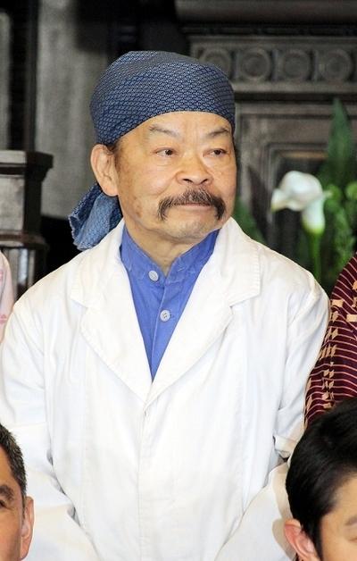 佐藤蛾次郎/Gajiro Sato, Apr 20, 2015 : 連続ドラマ「天皇の料理番」の会見=2015年4月20日撮影