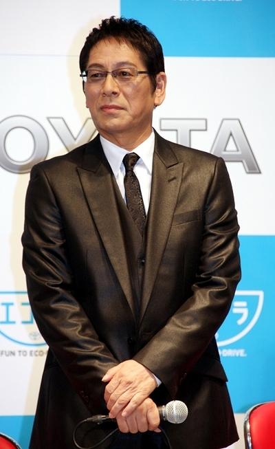 大杉漣/Ren Ohsugi, Nov 02, 2013 : 「トヨタエコドラチャレンジ in MEGA WEB」PRイベントに登場した大杉漣さん=2013年11月2日