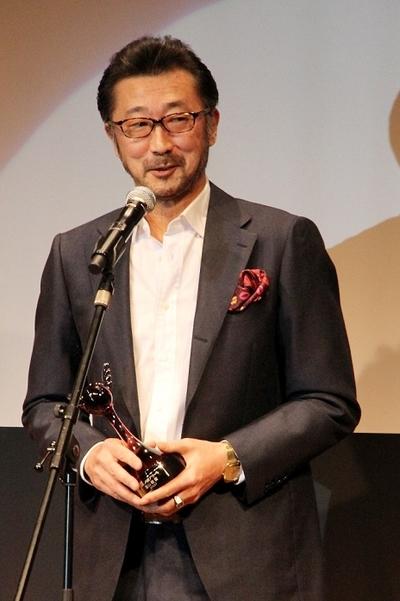 大塚明夫/Akio Otsuka, Mar 07, 2015 : 「第9回 声優アワード」の受賞式=2015年3月7日撮影 富山敬賞を受賞