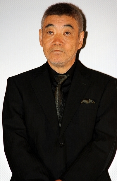 柄本明/Akira Emoto, May 24, 2014 : 「オー!ファーザー」」(藤井道人監督)初日舞台あいさつ=2014年5月24日撮影