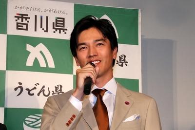 要潤/Jun Kaname, Jun 08, 2015 : 香川県のPRイベントに登場した要潤さん=2015年6月8日撮影