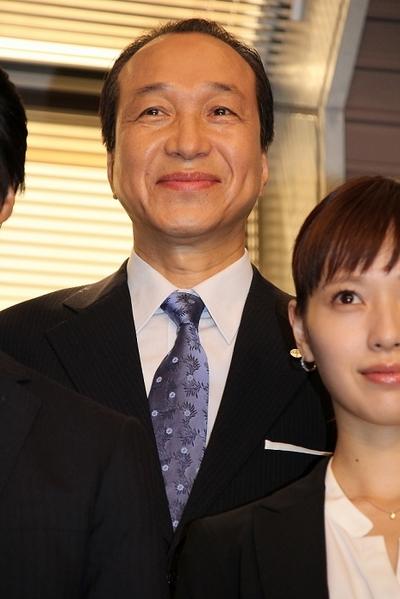 小日向文世/Fumiyo Kohinata, Jun 25, 2015 : 連続ドラマ「リスクの神様」の記者会見=2015年6月25日撮影