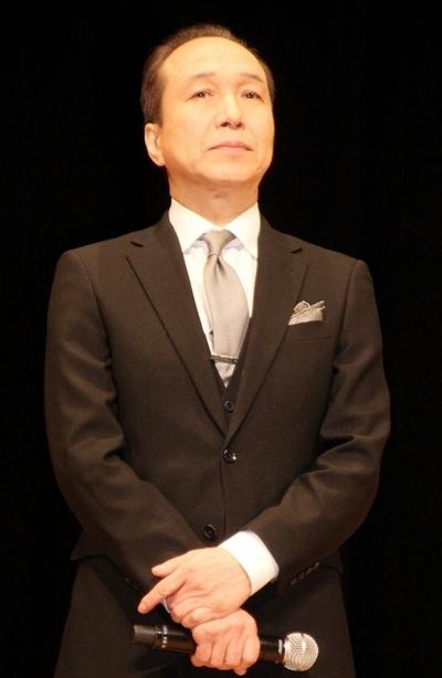 小日向文世/Fumiyo Kohinata, Feb 23, 2015 : 映画「ソロモンの偽証」(成島出監督)の完成披露試写=2015年2月23日撮影