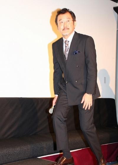吉田鋼太郎/Koutaro Yoshida, Aug 10, 2014 : イベント「MOZU NIGHT」を盛り上げた吉田鋼太郎さん(右)=2014年8月10日撮影