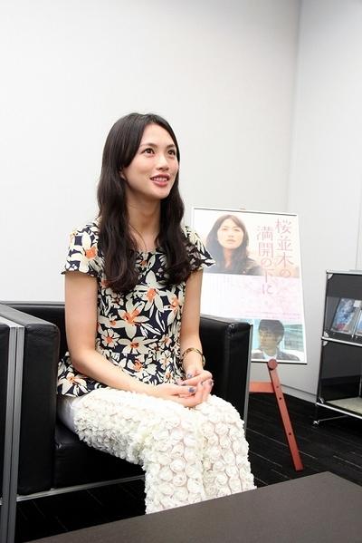 臼田あさ美/Asami Usuda, Feb 27, 2013 : 「桜並木の満開の下に」で主演を務めた臼田あさ美さん=2013年2月27日撮影