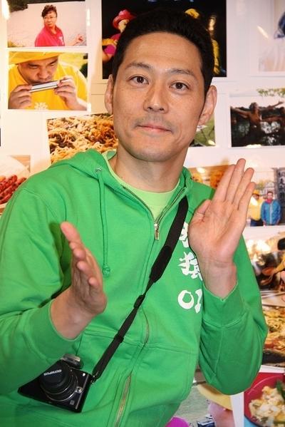 東野幸治/Koji Higashino, Nov 29, 2012 : 「東野・岡村の旅猿2」の会見=2012年11月29日撮影