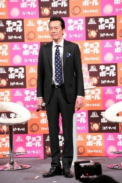 遠藤憲一/Kenichi Endo, Mar 01, 2016 : 都内で行われた森永製菓『チョコボール』新CM発表会