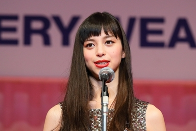 Japanese model Ayami Nakajo attends the 28th Japan Best Jewellery Wearer Awards ceremony in Tokyo, Japan on January 24, 2017. (Photo by AFLO)