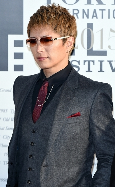 Gackt, Oct 22, 2015 : 第28回東京国際映画祭のレッドカーペット=2015年10月22日撮影