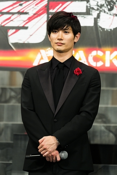 三浦春馬/Haruma Miura, Jul 21, 2015 : Actor Haruma Miura attends the Japan premiere of the film ''Attack On Titan'' on July 21, 2015. The Japanese film is based on the manga series of the same name, written by Hajime Isayama. The film is divided into two parts; the first part will hit theaters across Japan on August 1st and the second part, entitled ''Attack on Titan: End of the World'', is scheduled for release on September 19, 2015. (Photo by Rodrigo Reyes Marin/AFLO)
