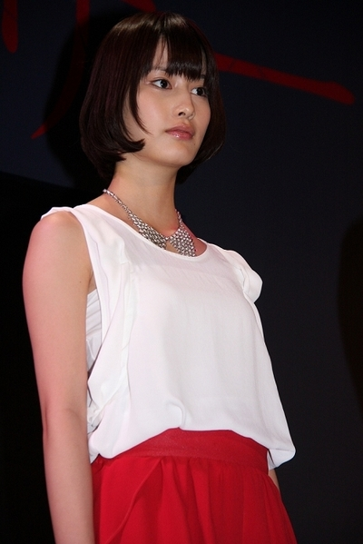 橋本愛/Ai Hashimoto, Jun 27, 2012 : ホラー映画「アナザー Another」の完成報告会見=2012年6月27日撮影