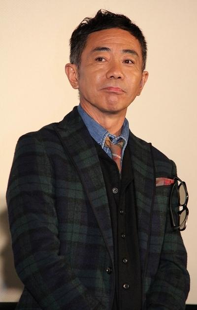 木梨憲武/Noritake Kinashi, Oct 28, 2013 : 映画「ウォーキング with ダイナソー」の製作記者会見に登場したとんねるずの木梨憲武さん=2013年10月28日撮影