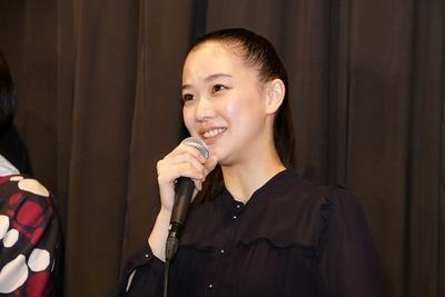 蒼井優, Jan 15, 2017 : 東京都内で行われた映画「アズミ・ハルコは行方不明」のトークイベント