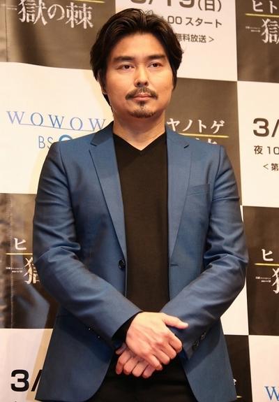 小澤征悦, Mar 08, 2017 : 時事通信ホールで開かれたWOWOWの「連続ドラマW ヒトヤノトゲ~獄の棘~」のトークイベント