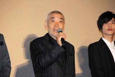 柄本明, 志尊淳, Oct 13, 2016 : 東京都内で行われた映画「疾風ロンド」の完成披露舞台あいさつ