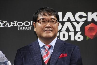 カンニング竹山/Cunning Takeyama, Feb 14, 2016 : 東京都内で開催されたクリエーターの開発イベント「Hack Day 2016」のスペシャルステージ「COLLABO HACK」