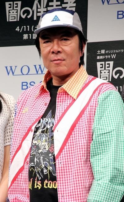 古田新太/Arata Furuta, Apr 07, 2015 : WOWOWのドラマ「連続ドラマW 闇の伴走者」の完成披露試写会=2015年4月7日撮影