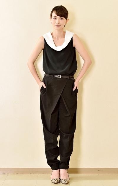 長谷川京子/Kyoko Hasegawa, May 20, 2015 : 美容やファッションについて語った長谷川京子さん=2015年5月20日撮影