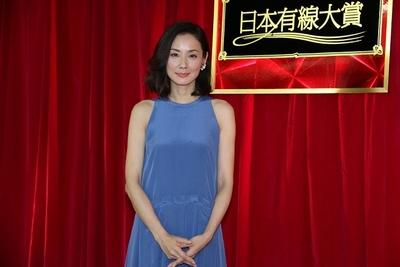 吉田羊/Yo Yoshida, Dec 07, 2015 : 「第48回日本有線大賞」の会見=2015年12月7日撮影
