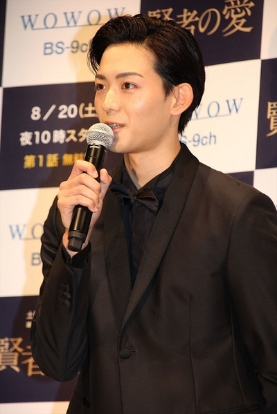 竜星涼, Aug 19, 2016 : WOWOWの連続ドラマ「連続ドラマW 賢者の愛」の完成披露試写会
