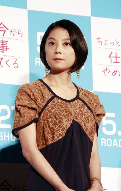 小池栄子, May 09, 2017 : 映画「ちょっと今から仕事やめてくる」の完成披露試写会=2017年5月9日撮影