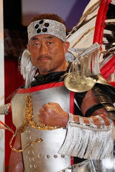 角田信朗/Nobuaki Kakuda, Oct 08, 2013 : 「CR花の慶次SP~琉」の発表会=2013年10月8日撮影