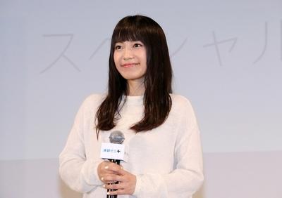 miwa, Oct 27, 2015 : 「進研ゼミ+」スタート記念中高生限定イベントに登場したmiwaさん=2015年10月27日撮影