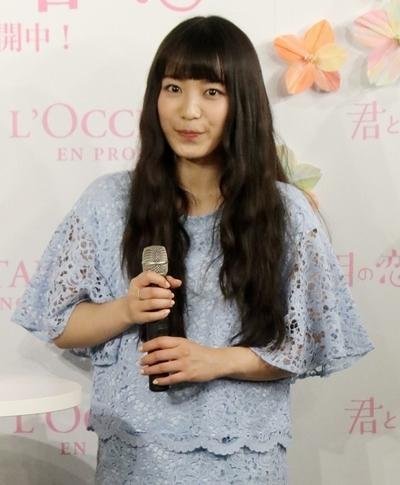 miwa, Feb 09, 2017 : ロクシタン新宿店で行われた「ロクシタンで、夢みるサクラ」オープニングイベント