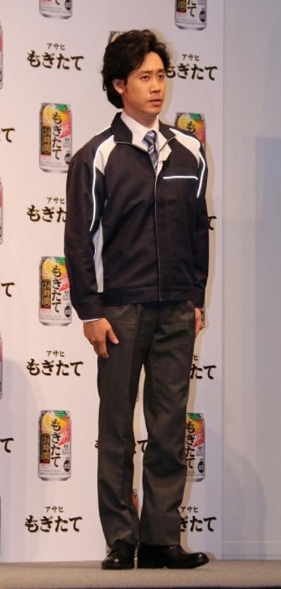 大泉洋/Yo Oizumi, Mar 29, 2016 : 東京都内で行われたアサヒビールのチューハイブランド「アサヒ もぎたて」のCM発表会