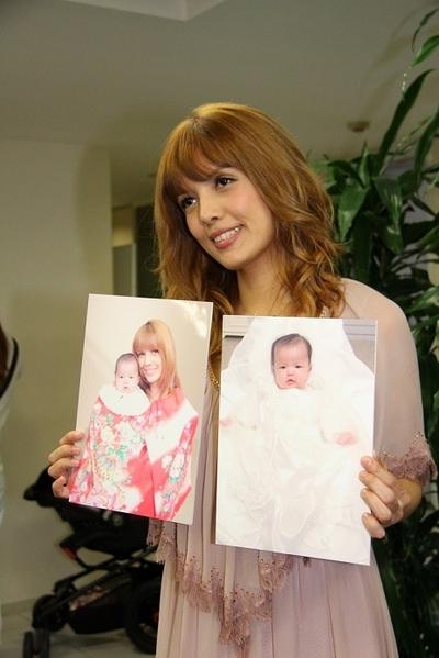 SHEILA, Jun 30, 2012 : 産休からの復帰会見を行ったSHEILAさん=2012年6月30日撮影