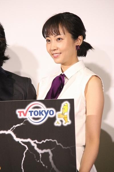 木南晴夏, Oct 06, 2016 : 東京都内で開催されたドラマ「勇者ヨシヒコと導かれし七人」(テレビ東京)の会見