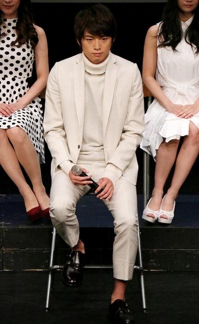 白洲迅/Jin Shirasu, Oct 23, 2015 : 「花より男子 The Musical」製作発表会見=2015年10月23日撮影