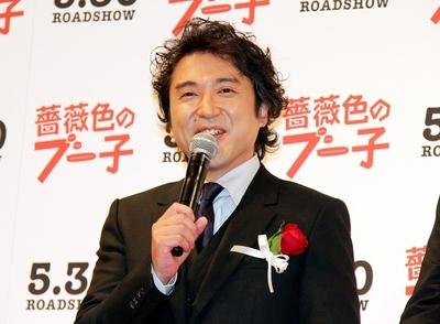 ムロツヨシ/Tsuyoshi Muro, May 15, 2014 : 映画「薔薇色のブー子」プレミア上映会 舞台あいさつ=2014年5月15日撮影