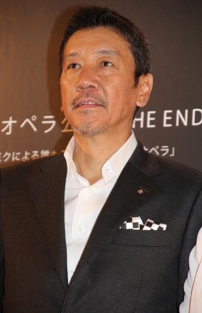 奥田瑛二/Eiji Okuda, May 22, 2013 : ボーカロイドオペラ「THE END」の初公演を明日に控えた22日、Bunkamuraオーチャードホールでプレスプレビューが開催された=2013年5月22日撮影