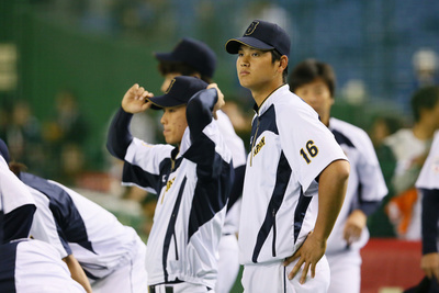 大谷翔平/Shohei Otani (JPN),  NOVEMBER 14, 2014 - Baseball :  2014 All Star Series Game 2  between Japan and MLB All Stars  at Tokyo Dome in Tokyo, Japan.  (Photo by YUTAKA/AFLO SPORT)[1040]