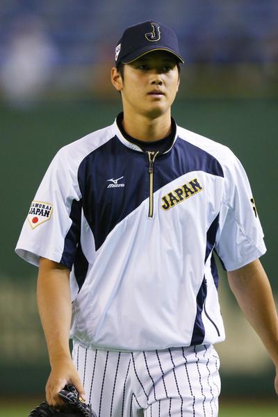 大谷翔平/Shohei Otani (JPN),  NOVEMBER 15, 2014 - Baseball :  2014 All Star Series Game 3 between Japan 4-0 MLB All Stars  at Tokyo Dome in Tokyo, Japan.  (Photo by Shingo Ito/AFLO SPORT)[1195]