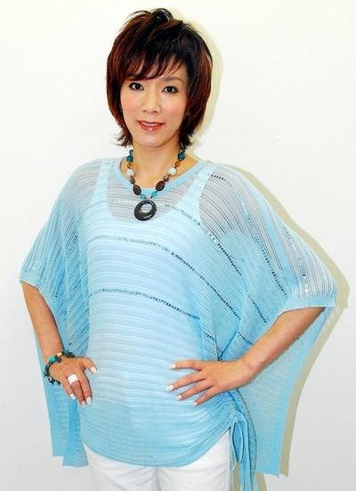 真琴つばさ/Tsubasa Makoto Jul 02 2013 : 舞台「ジ・アルカード・ショー」について語った真琴つばささん=2013年7月2日撮影