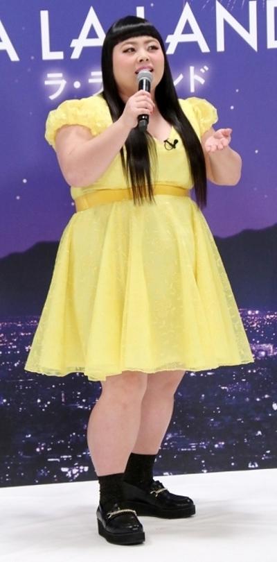 渡辺直美, Feb 09, 2017 : 東京都内で行われた映画「ラ・ラ・ランド」のマスコミ向けイベント