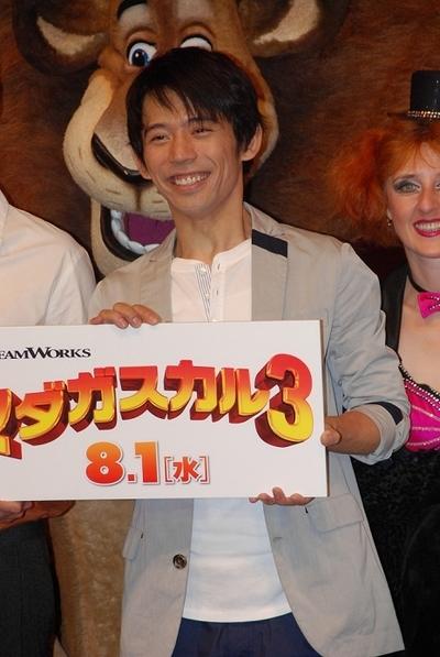 岡田義徳/Yoshinori Okada, Jul 23, 2012 : 映画「マダガスカル3」のPRイベント=2012年7月23日撮影