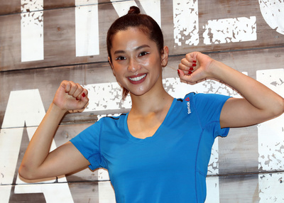 June 16, 2016, Tokyo, Japan - Japanese model Anne Nakamura poses for photo as she attends a promotion event for Reebok Fitness Battle Race in Tokyo on Thursday, June 16, 2016. Reebok Fitness Battle Race is a four-person team event of obstacle race, which will be held at the German village in Chiba prefecture on October 1.   (Photo by Yoshio Tsunoda/AFLO) LWX -ytd