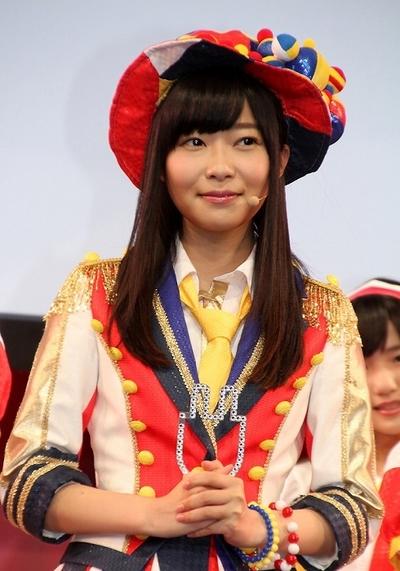 指原莉乃/Rino Sashihara(HKT48), Jun 16, 2014 : 「プリウスPHV」の新CM発表会に登場したHKT48の指原莉乃さん=2014年6月16日撮影