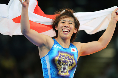吉田沙保里/Saori Yoshida (JPN), AUGUST 9, 2012 - Wrestling : Women's 55kg Freestyle Final at ExCeL during the London 2012 Olympic Games in London, UK.  (Photo by AFLO SPORT) [1045]