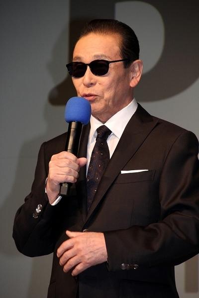 タモリ/Tamori, Jan 29, 2015 : =サントリーコーヒー「BOSS」の新キャンペーン・新CM発表会で=2015年1月29日撮影