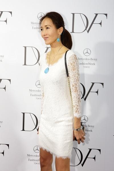 工藤静香/Shizuka Kudo, March 20 2014 : Mercedes Benz Fashion Week Tokyo 2014-15, 2014 A/W Fashion Runway Show of DIANE von FURSTENBERG in Tokyo, Japan.